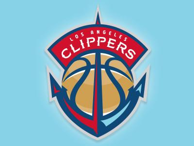 LA Clippers concept sports logo sports team logo basketball clippers los angeles la nba