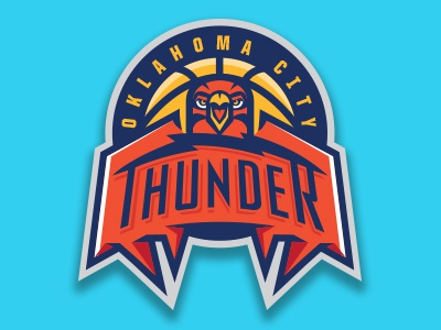 OKC concept sports logo sports team logo basketball okc thunder oklahoma nba