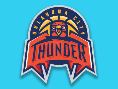 OKC concept sports logo sports team logo basketball okc thunder oklahoma nba