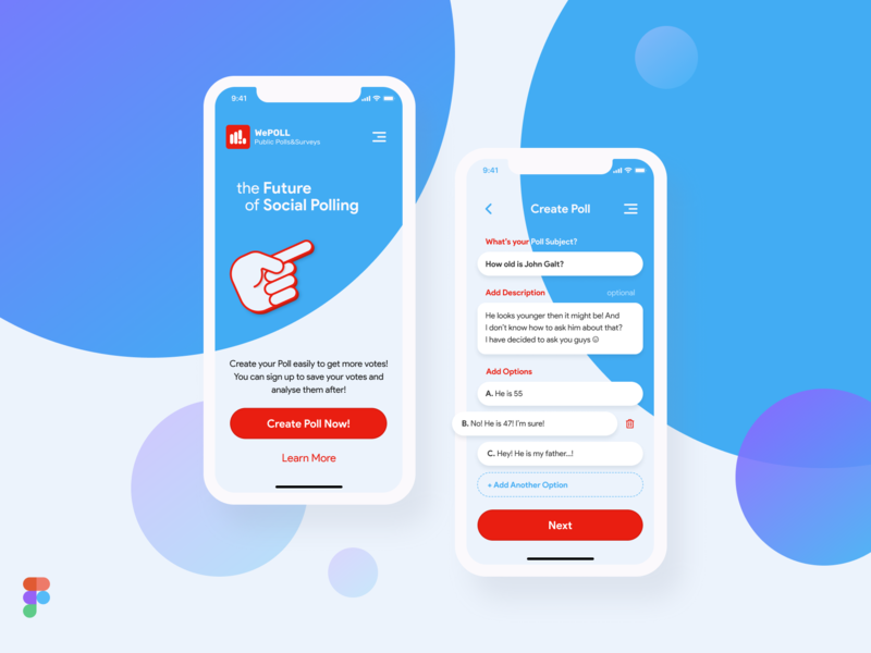 Poll&Survey Mobile App Design mobile app design mobile mobile ui flat app ux design ui