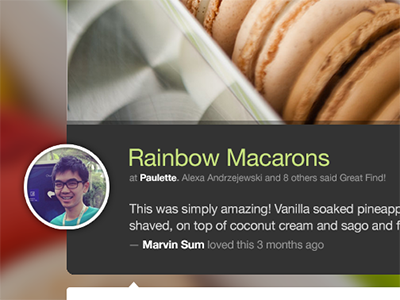 Food Review foodspotting photo background review avatar