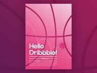 Hello Dribbble Poster