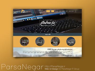 Parsa Negar Website Ui (Index)