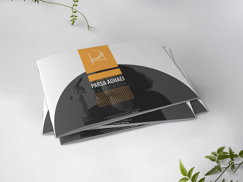 Printed Portfolio pdf design horizontal mockup university portfolio architecture orange book cover composition a5 a4 mockup catalogue cover catalog print portfolio