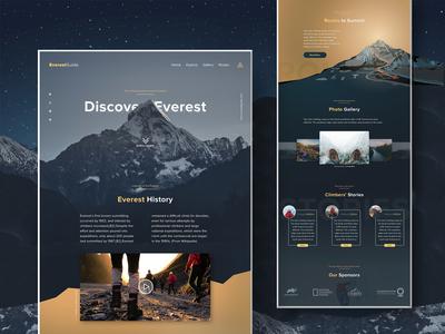 Mount Everest Landing Page Designed