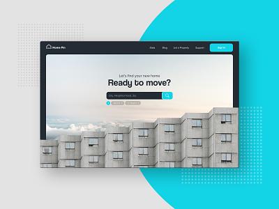 Real Estate Finder dailyui search finder housing home real estate property open sans coolvetica rent desktop ux ui website apartment