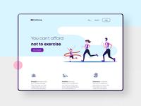 Gym Website pink responsive design ui web ux illustration webdesign web design website ui design ui minimal layout landing page gym