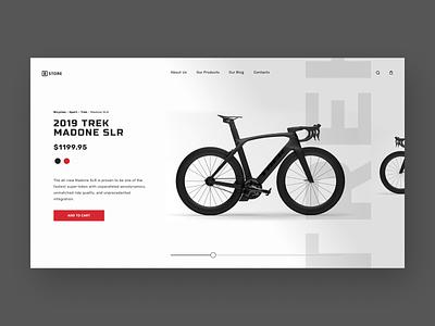 "Product Page - ""Bike Store"" website web ux ui typogaphy store shop logo landing page landing design red black white bike bicycle store bicycle shop bicycles bicycle 3d"