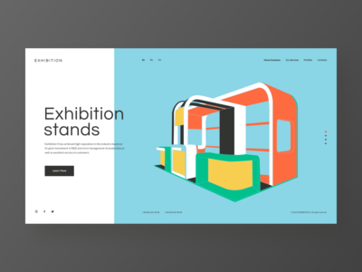 Exhibition s - concept redesign website