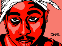 Tupac Illustration [Insta @omarsdesign for full piece]