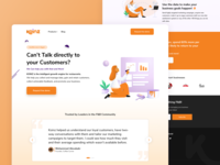 Koinz - Growth engine for restaurants loyalty user experience user inteface ux call to action concept branding analytics analysis reviews design illustration product design product online interaction design web design website webdesign ui