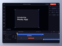 Mocky app - publish project dailyui dark mode mockup timeline web application webdesign software dark ui dark aftereffects ux interaction design interaction concept animation design ui