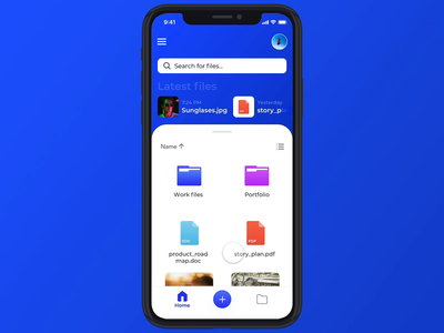 share file interaction concept prototype protopie iphone files file sharing file moblieapp app design blue ux ixd interaction design interaction concept animation design ui