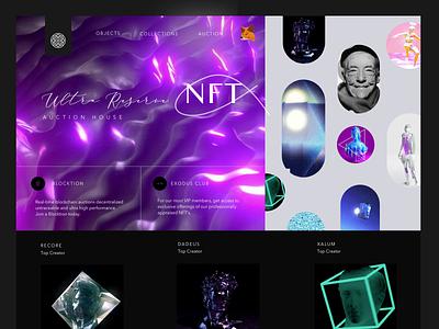 NFT Marketplace design trippy ux appdesign webdesign branding coin cryto nft