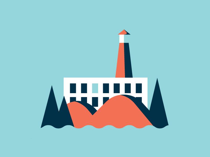 SF Landmarks sf illustration chinatown trolley ferry building coit tower san francisco alcatraz
