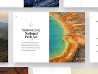 National Parks Timeline yellowstone national parks ux ui
