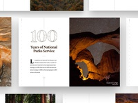 100 Years of National Parks national parks ui web