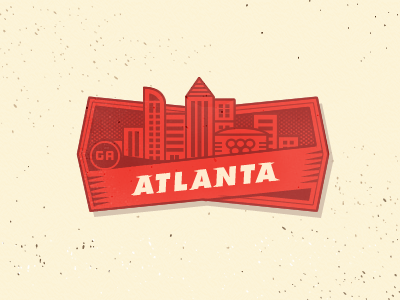 City Badge - Atlanta atlanta badge beer city outage futura type lettering olympics georgia breweries