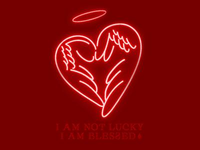 Thankful heart logo minimal lettering vector design branding illustration typography