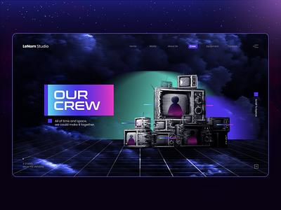 Aeropace Visualiztion manipulation spaceship website photoshop astronaun explore universe space typography