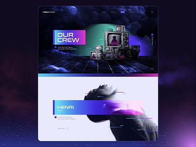 Aeropace Visualiztion studio sci-fi gradient cyberpunk human aerospace television website team distorted key visual visual spaceship astronaunt design ux ui