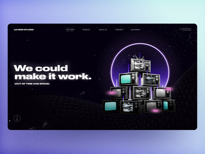 Aeropace Visualiztion 2 homepage uiux gradient spaceship space night distorted neon noise television astronaunt universe typography photoshop website career team