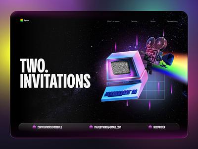 Dribbble Space Invitation invitation website concept website design ux ui typography
