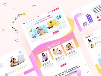 E-learning Kid Website website concept website design illustration illustrator web clean flat vector website ui ux design branding typography