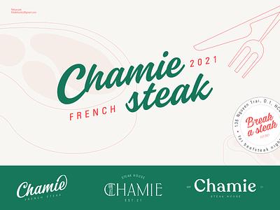 Beefsteak restaurant logo beefsteak steak beef business restaurant uiux typography flat illustration branding minimal clean logo design vector