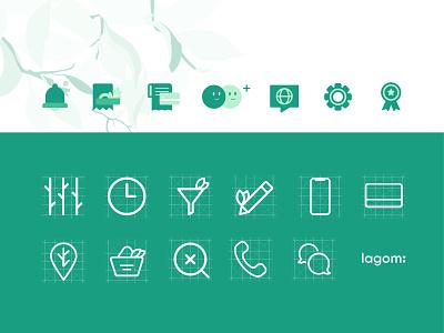 Salad App Icon vector icon lettering app ux ui typography branding