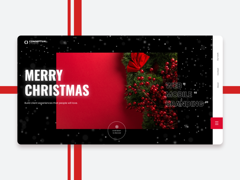 Merry Christmas webdesign website ux ui