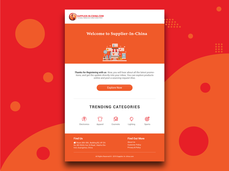 Supplier in China Email Template
