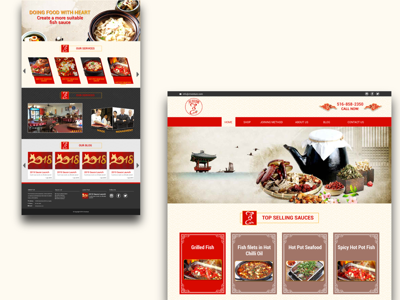 Chines Style Website for Sauce Products
