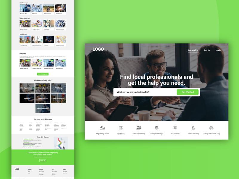 Thervo Home Page Design
