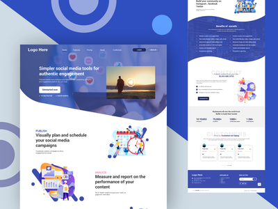 social media Management trendy flat design uiux icon website design minimal iconset flatdesign ui design uidesign web design webdesign web design branding website illustration ux ui