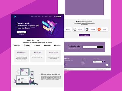 Online Chat website Design website design webdesign web design branding app website illustration ux ui