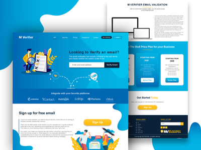 Online Email Verify web design ui design website design webdesign logo design web website illustration ux ui