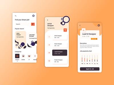 Find Your Dream Job Concept idea app design icon ui web ios guide uiux app design ui ux trending app design app design moible app minimal icon logo branding illustration ux ui