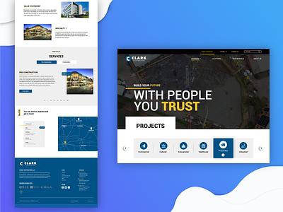 Trending Website Design for Clark Contractor minimal ui design website design webdesign web design website illustration ux ui