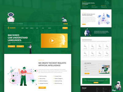 Ai Website Home Page Design uidesign web design ux design ux  ui uxui ux uiuxdesign uiux vector art vector animation website design website illustration icon typography branding webdesign design web