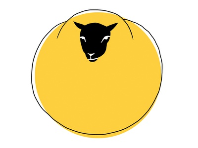 Sheep book drawing nature yellow sheep illustration