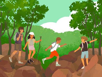Adventure Camp at Devil's Lake activity outdoors kids camp adventure devils lake midwest wisconsin hiking