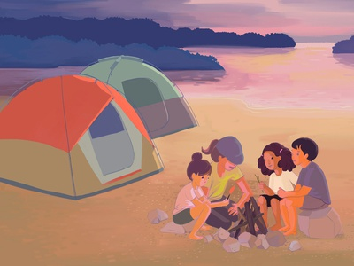 Adventure Camp at Devil's Lake devils lake camp adventure activity outdoor kids midwest wisconsin lake tent fire camping