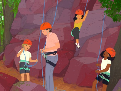 Adventure Camp at Devil's Lake camp adventure wisconsin devils lake activity kids outdoors rock climber climbing rock climbing