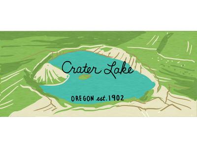 Crater Lake oregon illustration drawing outdoors nature illustration nature nps national park crater lake