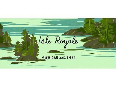 Isle Royale nature illustration outdoors nps nature midwest national park michigan island isle royale