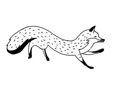 Fox nature illustration drawing animal fox