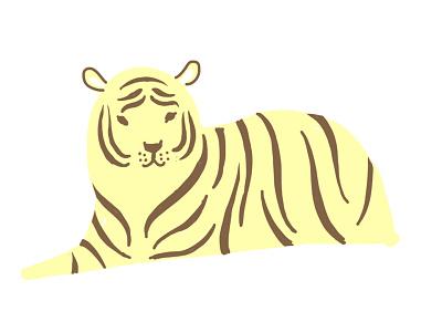 Tiger nature illustration nature drawing graphic stripes tiger
