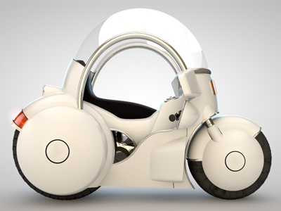 Capsule Corp Motorcicle grey 3d c4d hdri light cinema rendering tech design dragon ball capsule corp.