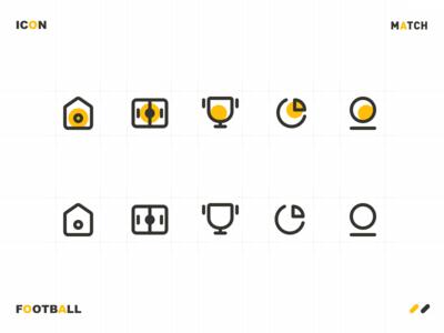 Icon Design-Football Match